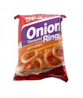 Salgadinho de Cebola Onion Rings Hot and Spicy - Nong Shim 40g